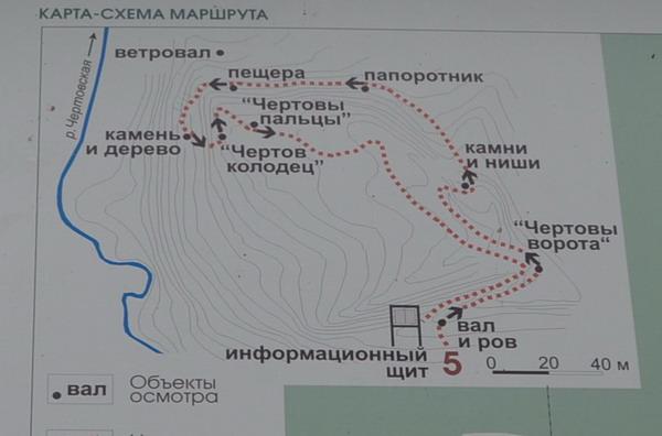 Схема Чертова городища