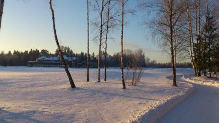 Пестово, зима