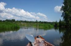 Испытание байдарки Щука на реке Клязьма