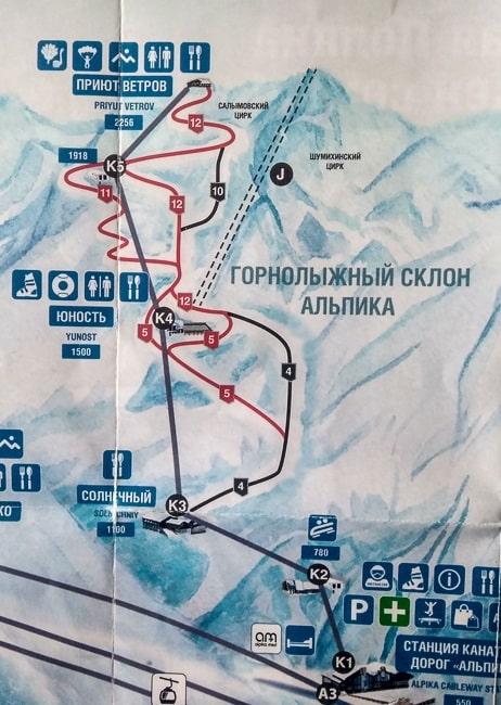 газпром альпика схема трасс