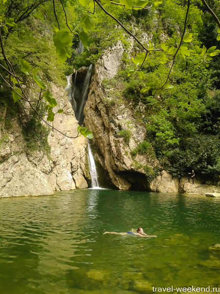 сочи агурские водопады